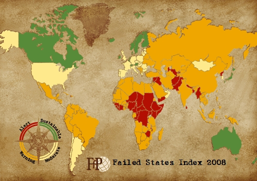 Failed States Index 2008 — Страны мира