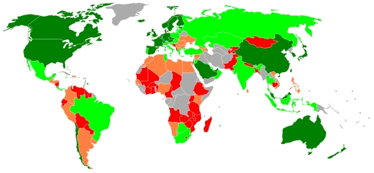The Global Competitiveness Index: Карта конкурентоспособности стран мира 2008–2009